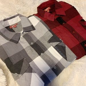Long-sleeve flannel shirts